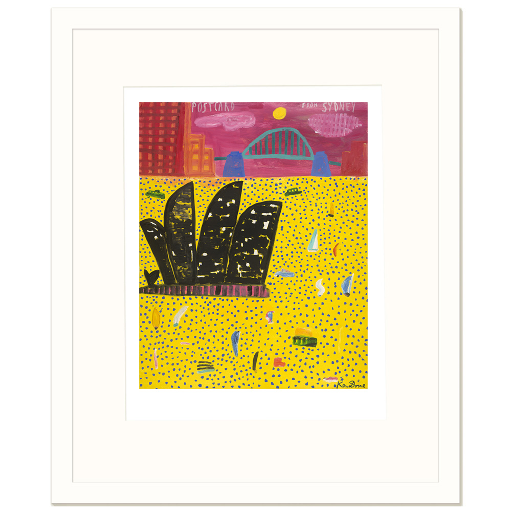 Limited Edition Prints Postcard from Sydney, yellow spotted sea, 2016