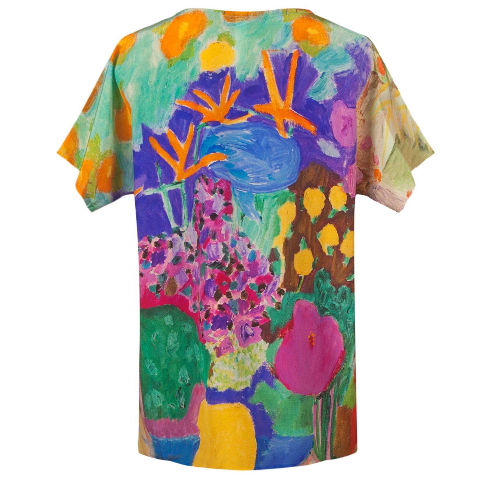 Clothing Art top silk - Hibiscus oranges