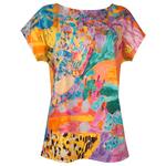 Clothing Art top cotton - December coral garden