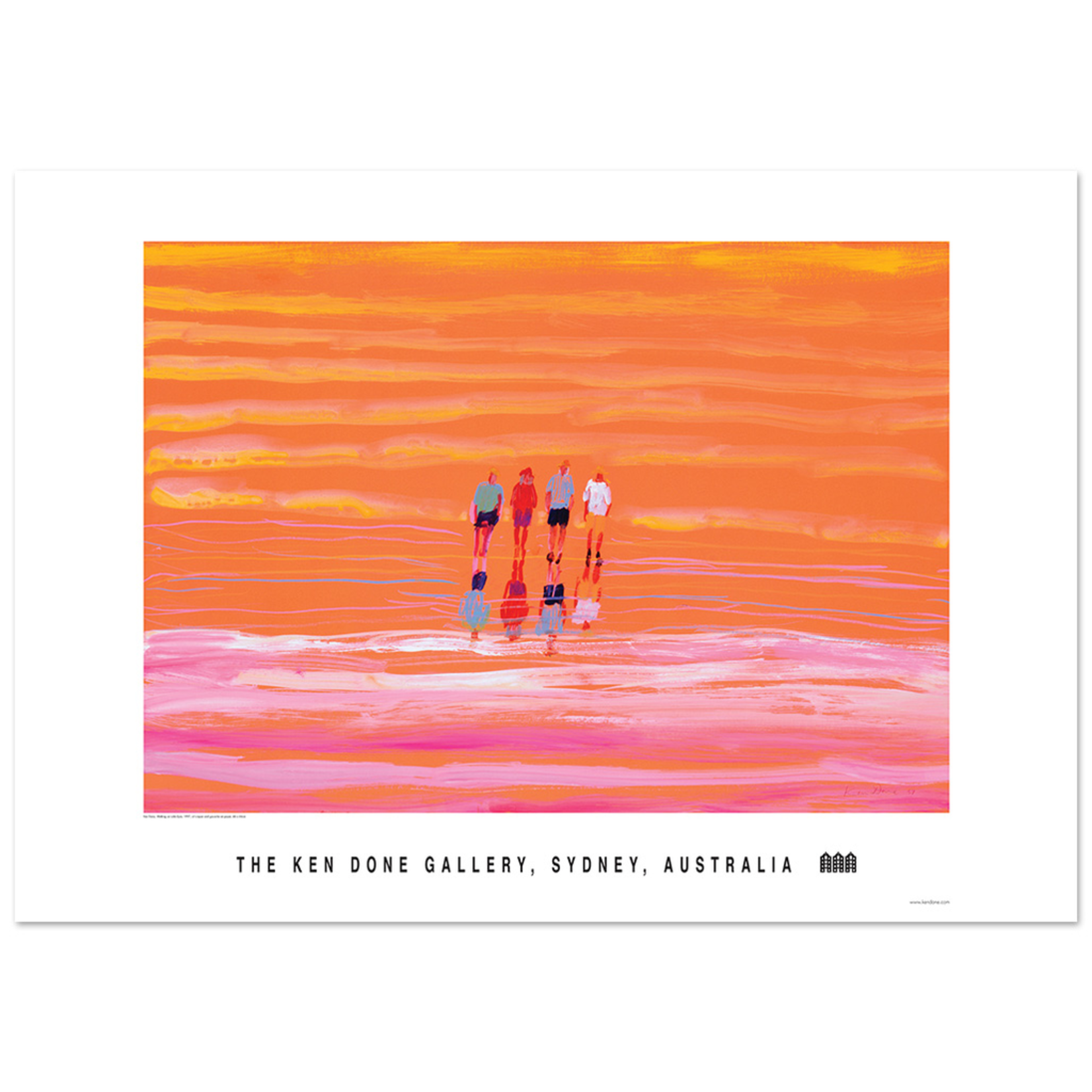 Posters Poster - Walking on Lake Eyre