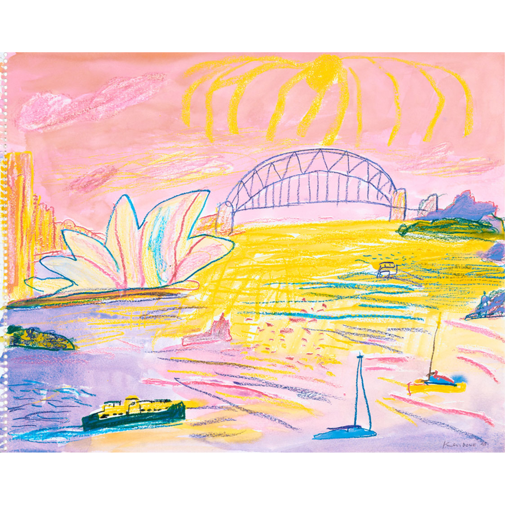 Limited Edition Prints Sydney, late afternoon from Bradley's Head, 1995