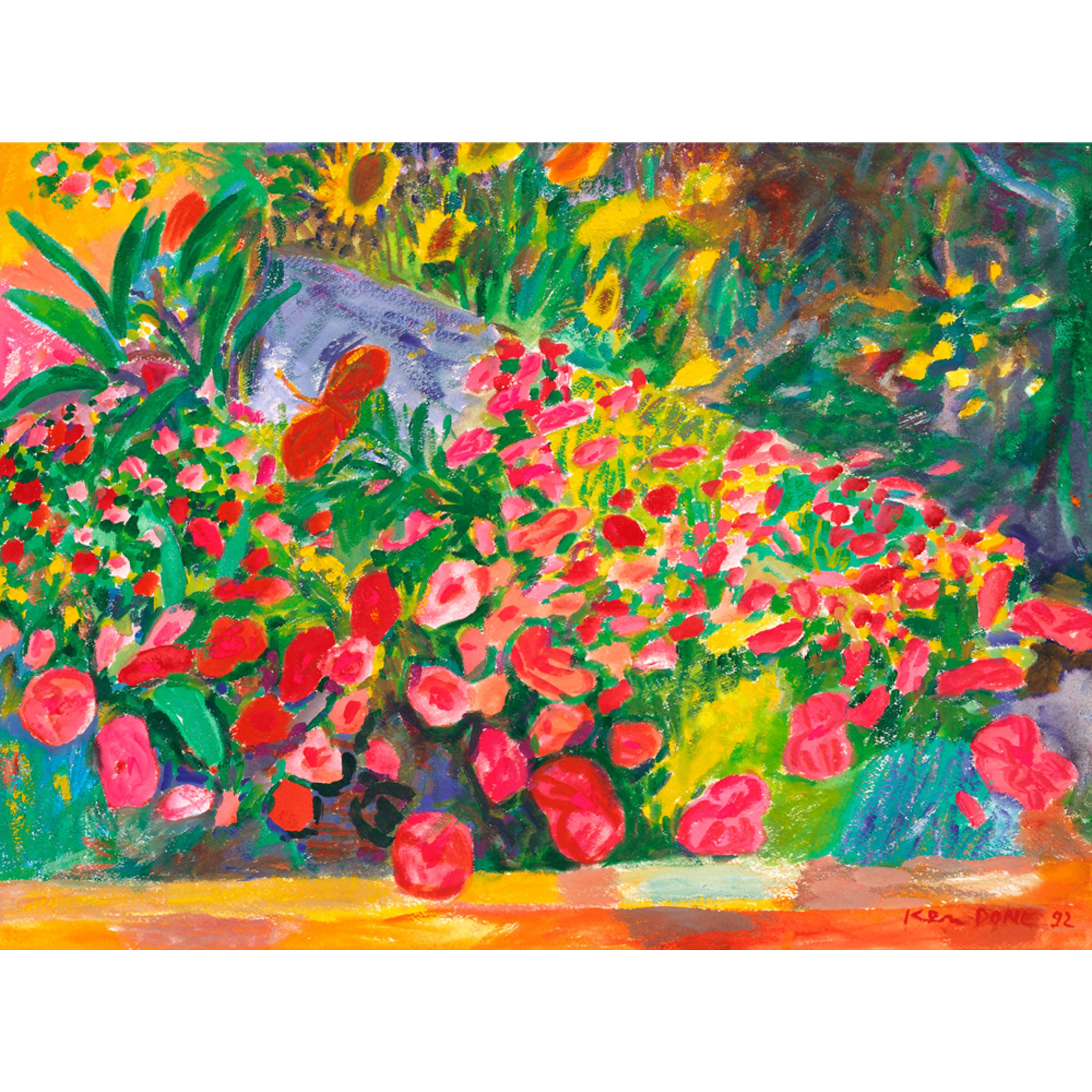 Limited Edition Prints Rocks and flowers, 1992