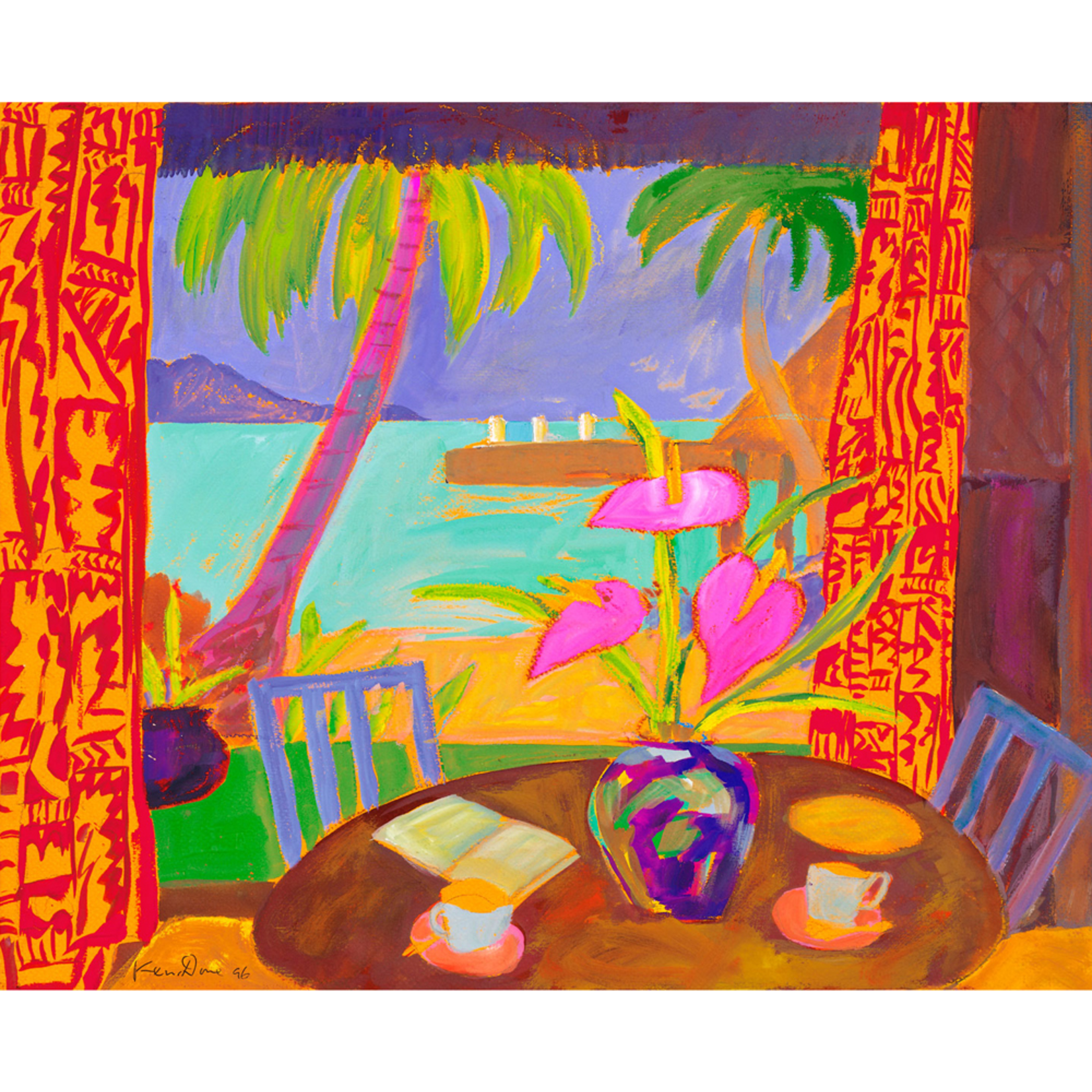 Limited Edition Prints From the dining room II Toberua, 1996