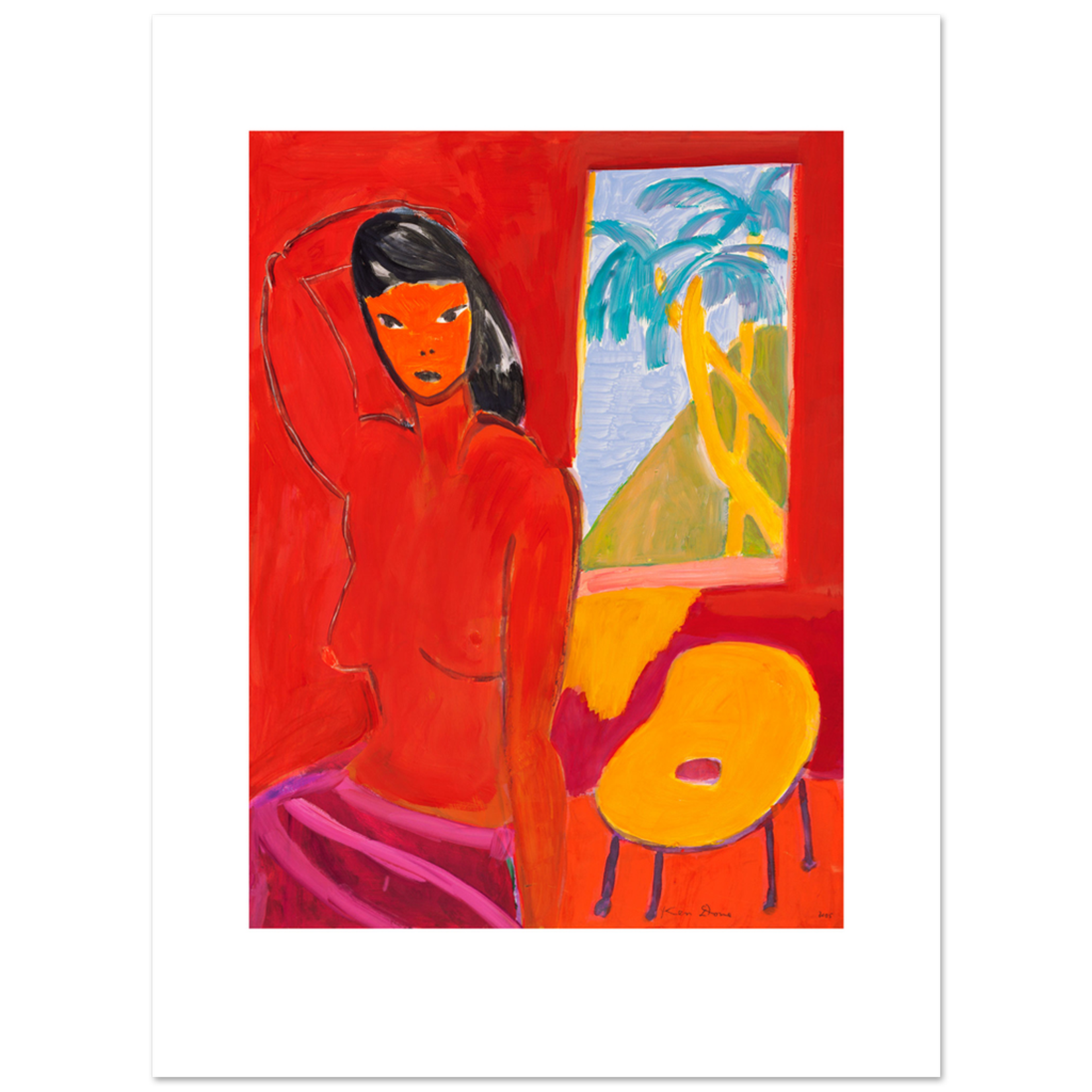 Limited Edition Prints Model and yellow chair, 2005