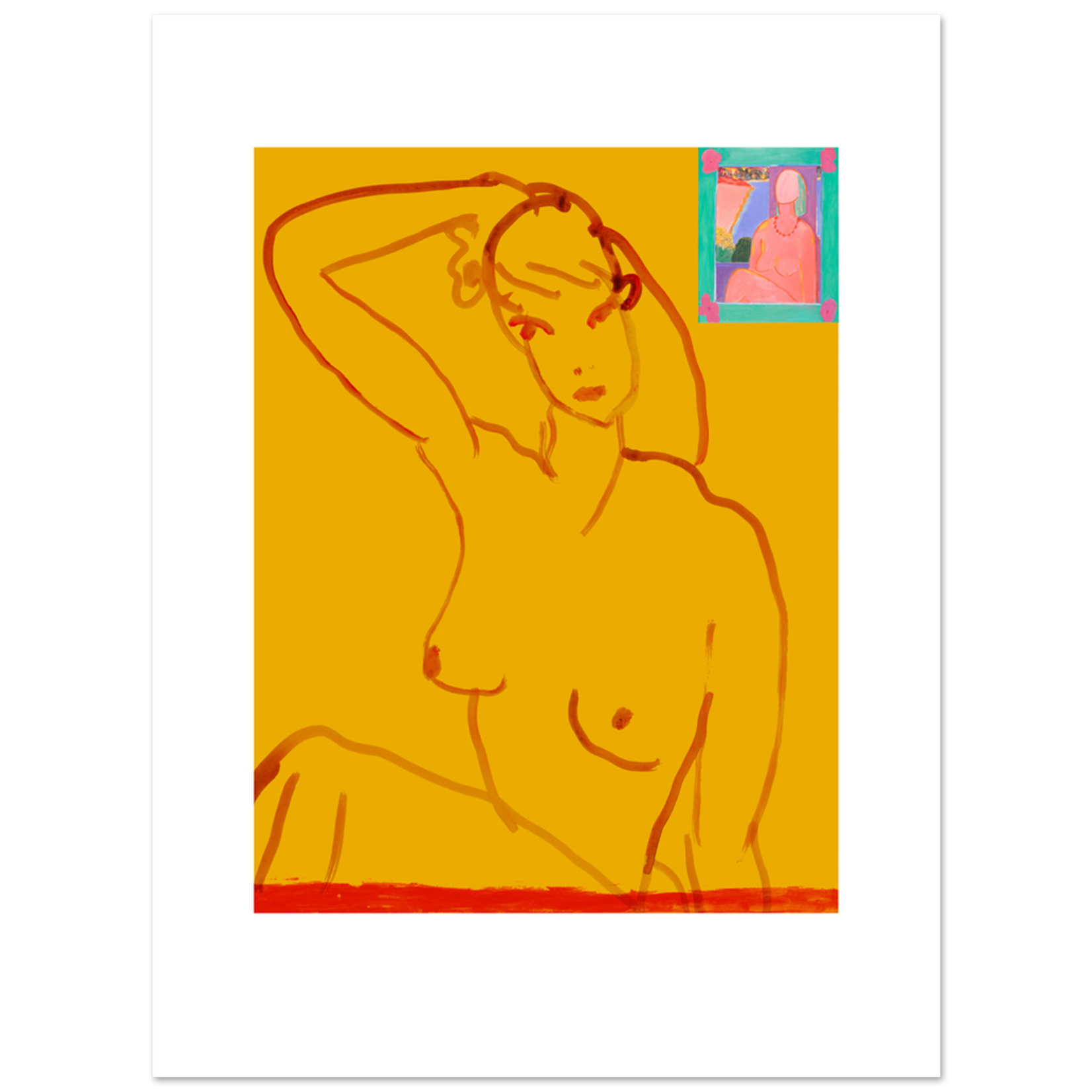 Limited Edition Prints Yellow nude, 2007
