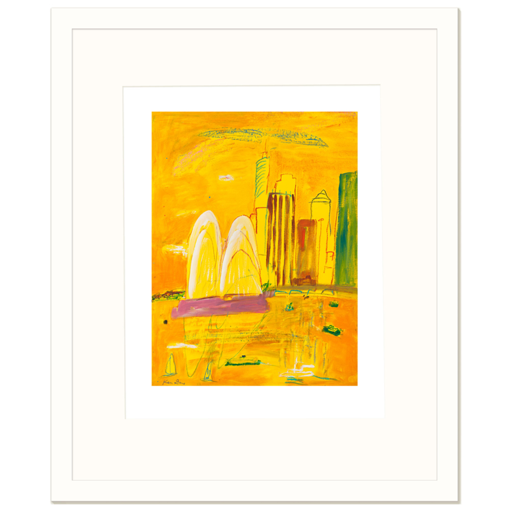 Limited Edition Prints Yellow afternoon Sydney, 2000