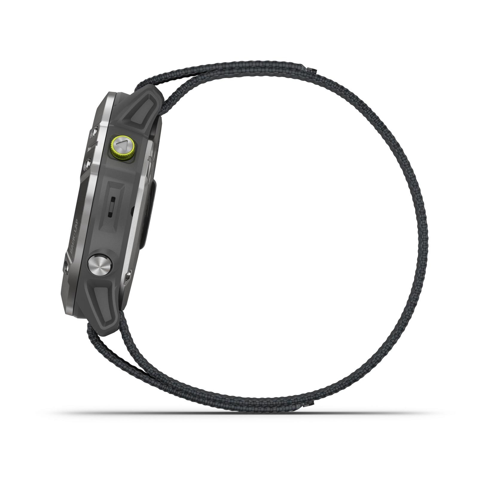 Garmin Enduro™ GPS Watch Steel with Gray UltraFit Nylon Strap