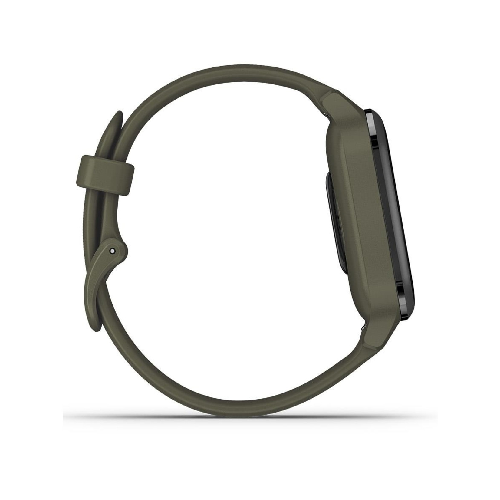 Garmin Venu® Sq – Music Edition Slate Aluminum Bezel with Moss Case and Silicone Band