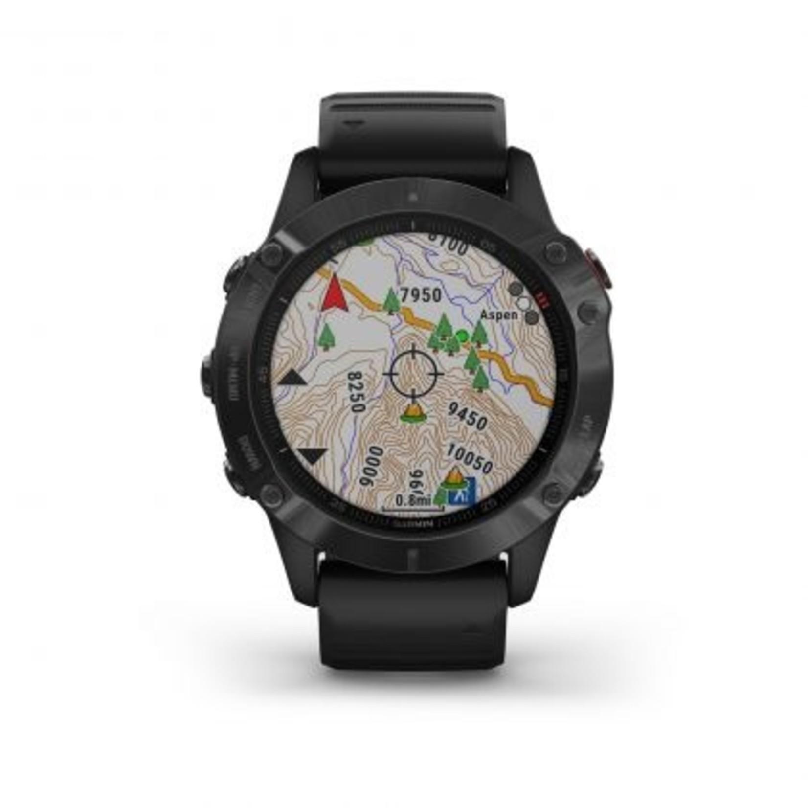Garmin fēnix® 6 Sapphire - Carbon Gray DLC with Black Band