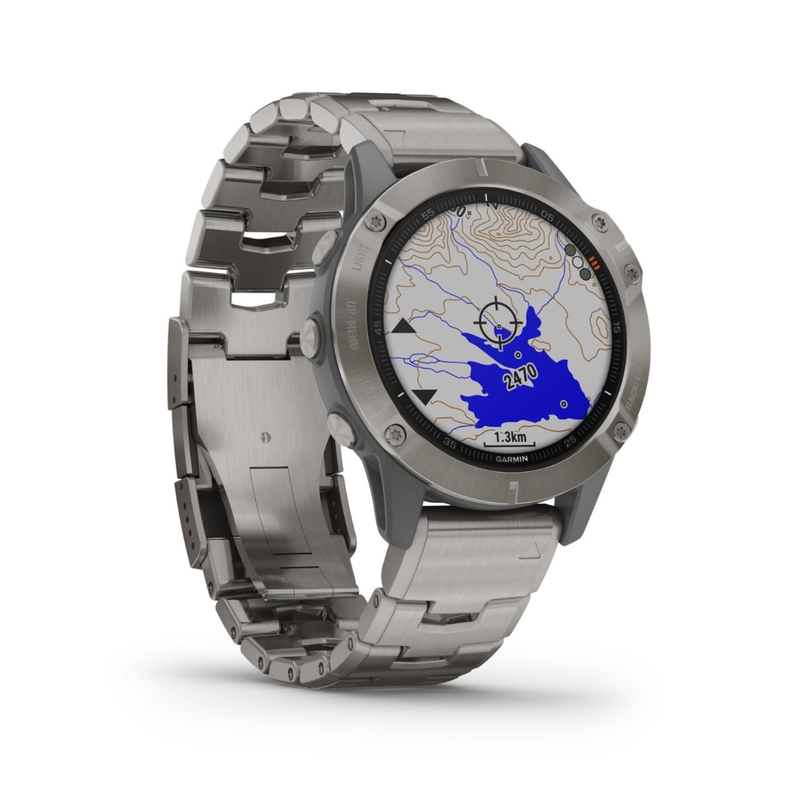 Garmin fēnix 6 Sapphire - Titanium with Vented Titanium Bracelet
