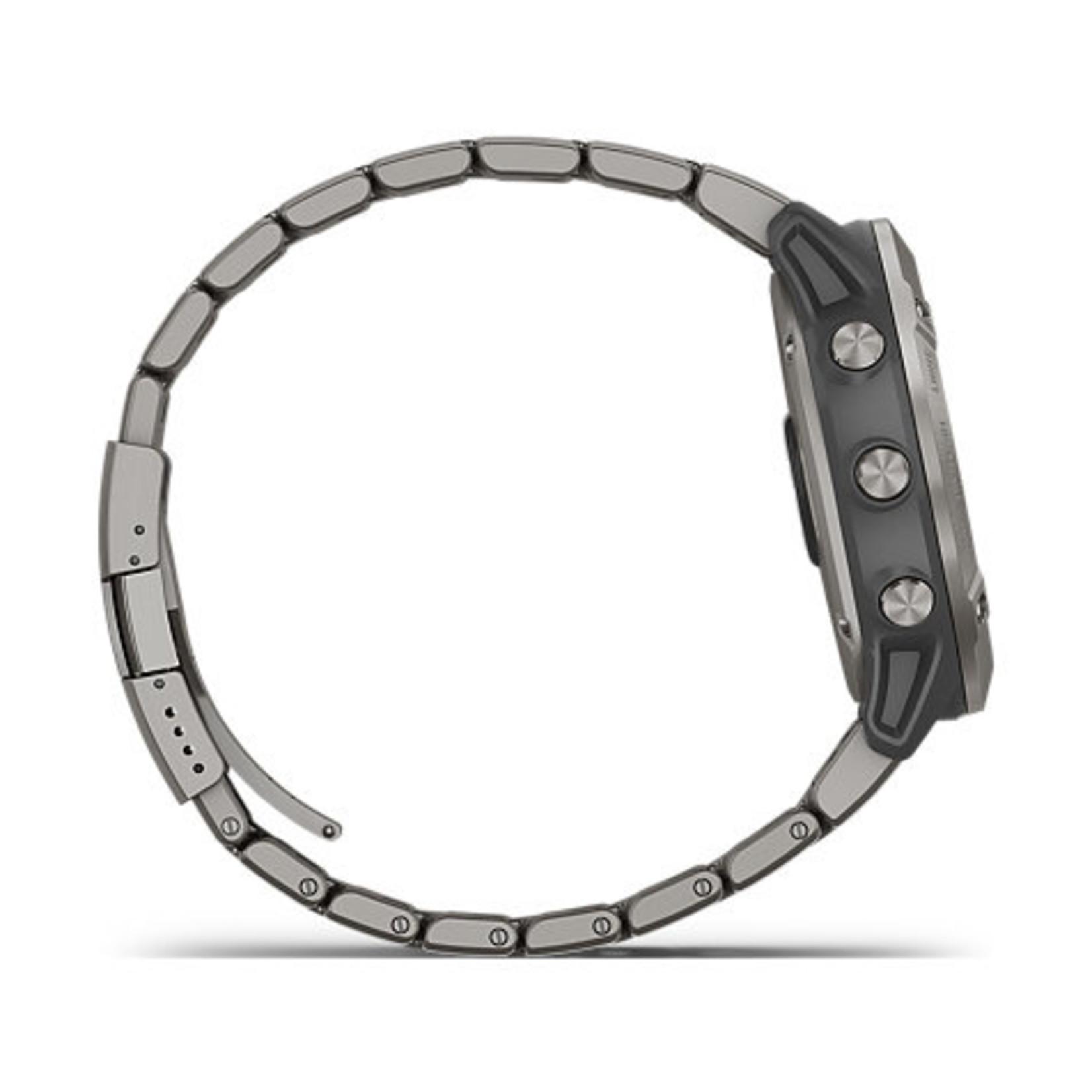 Garmin fēnix® 6X Pro Solar - Titanium with Vented Titanium Bracelet