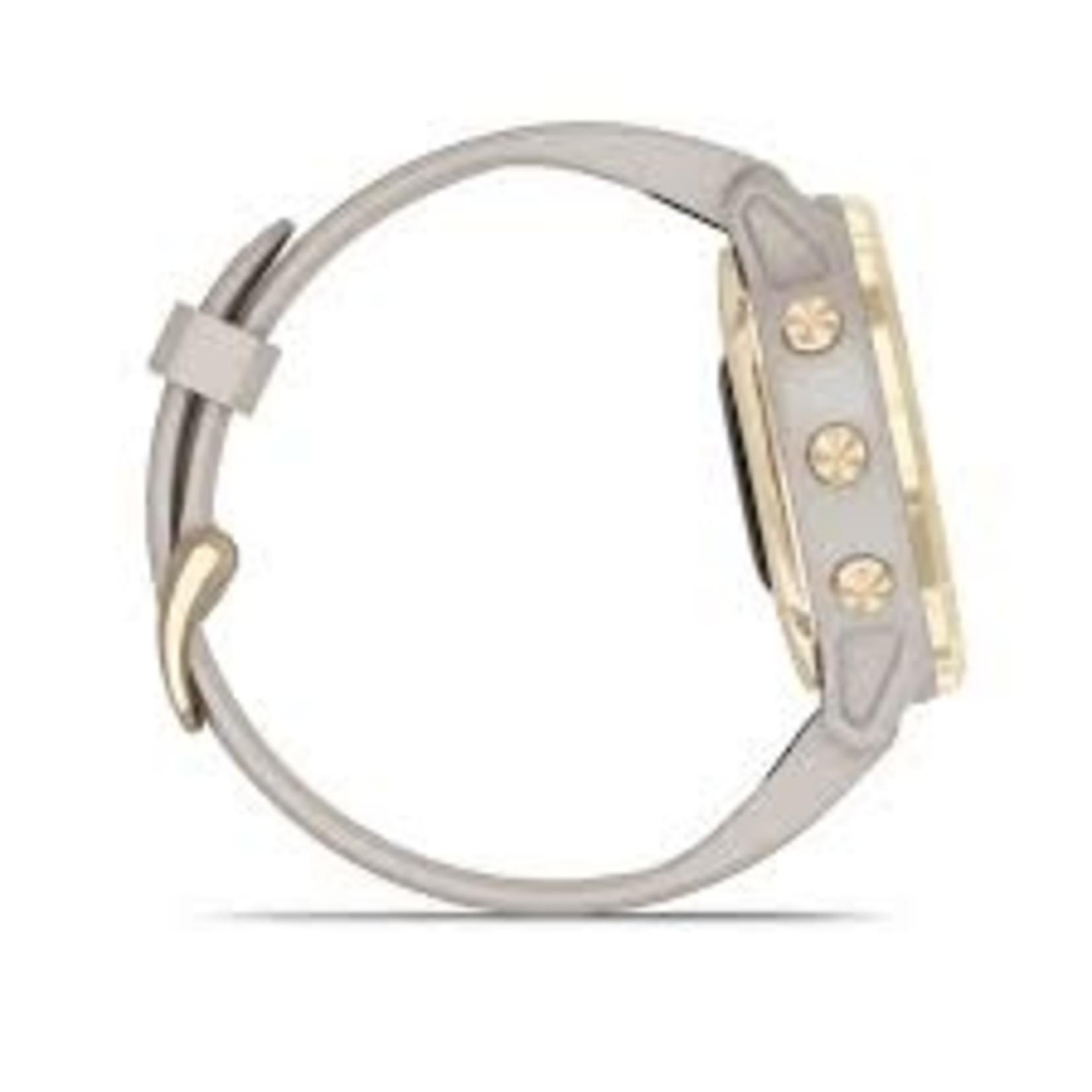 Garmin fēnix® 6S - Pro Solar Edition Light Gold with Light Sand Band