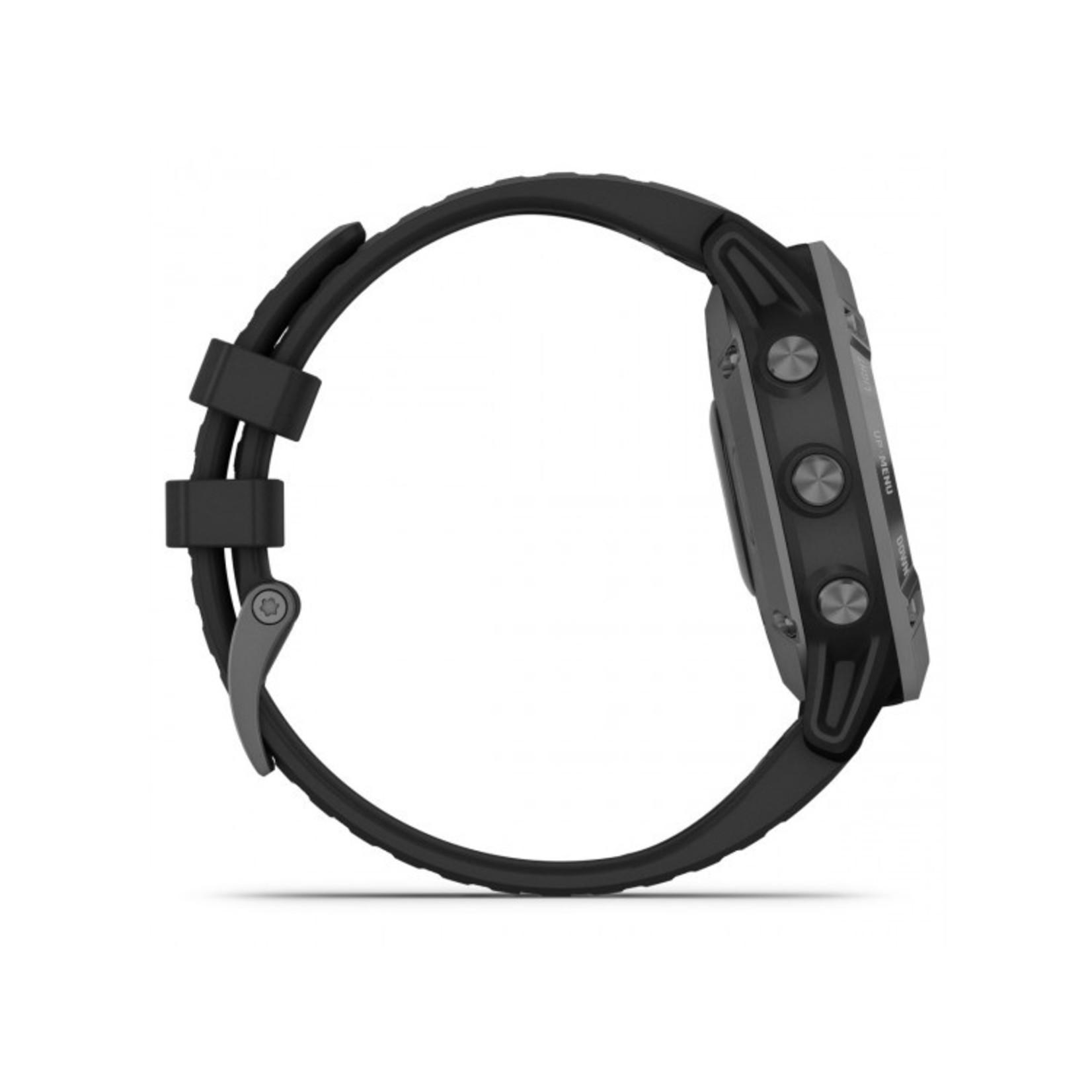 Garmin fēnix® 6 - Pro Solar Edition Black with Slate Gray Band