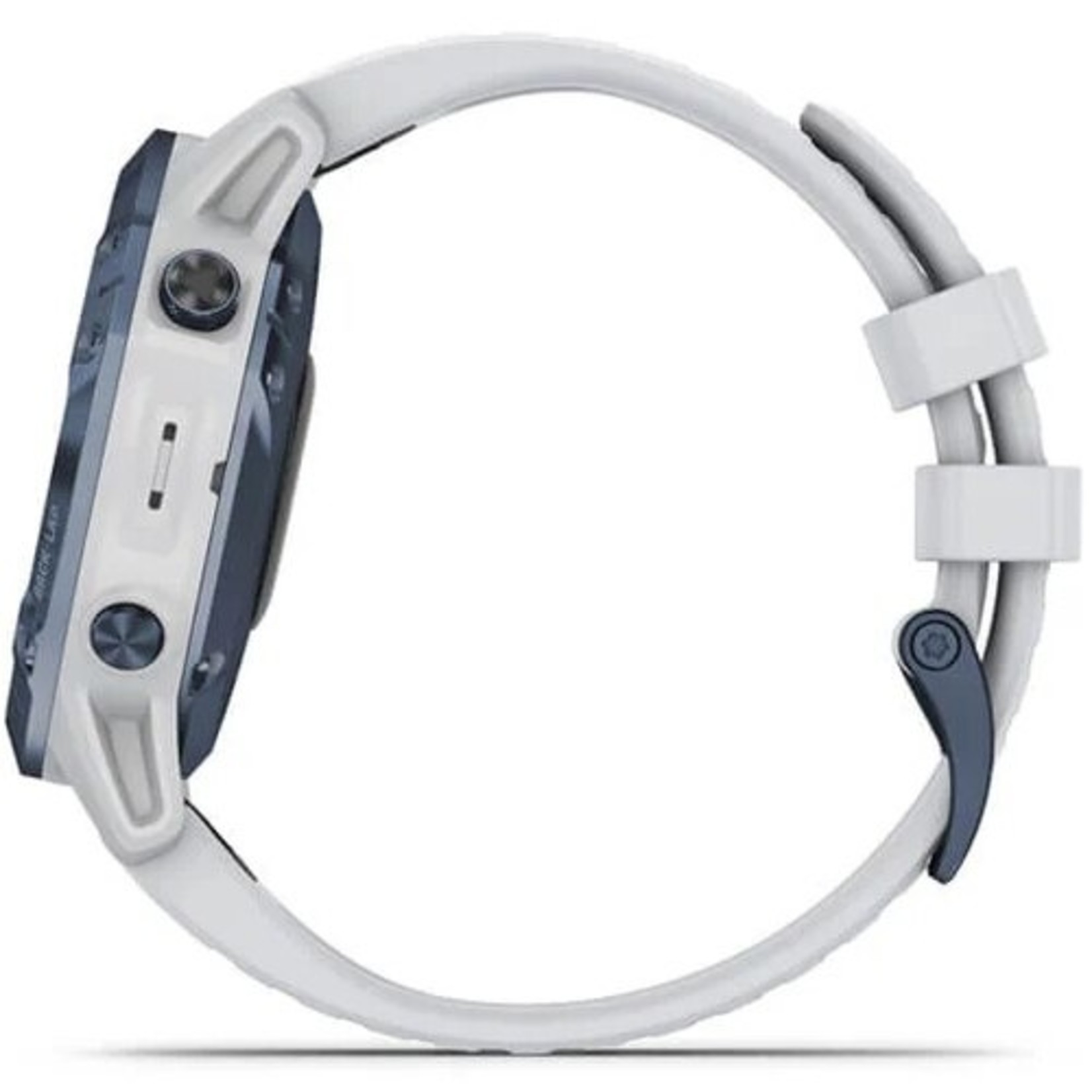 Garmin fēnix® 6 - Pro Solar Edition Mineral Blue Titanium with Whitestone Band