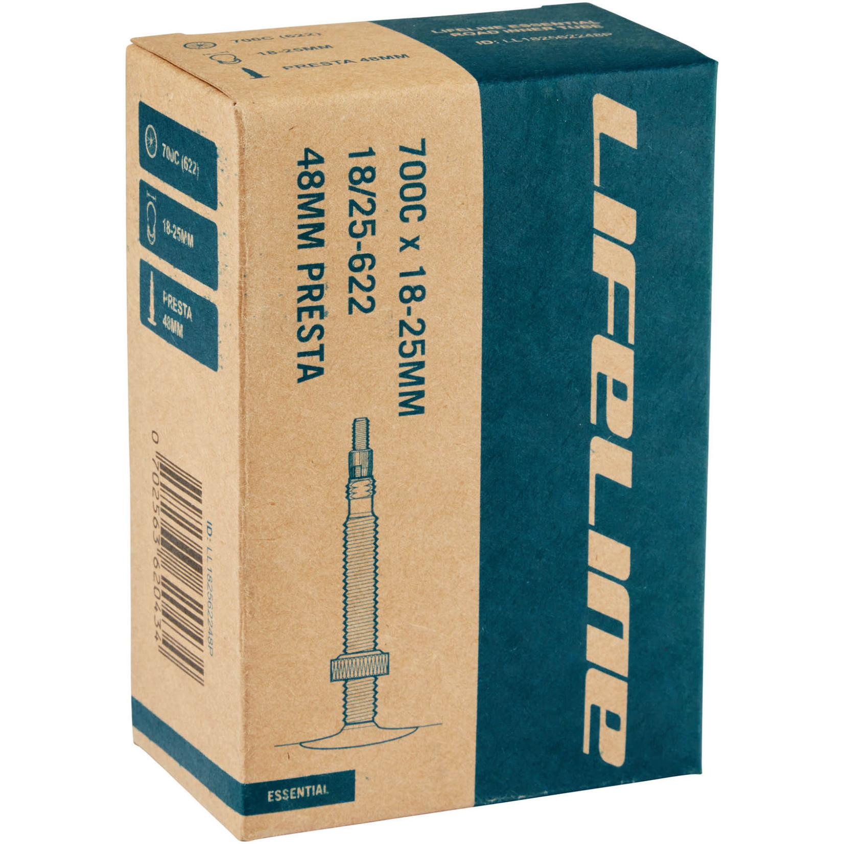 LifeLine Inner Tube Road 700C x 18-25mm Presta 48mm