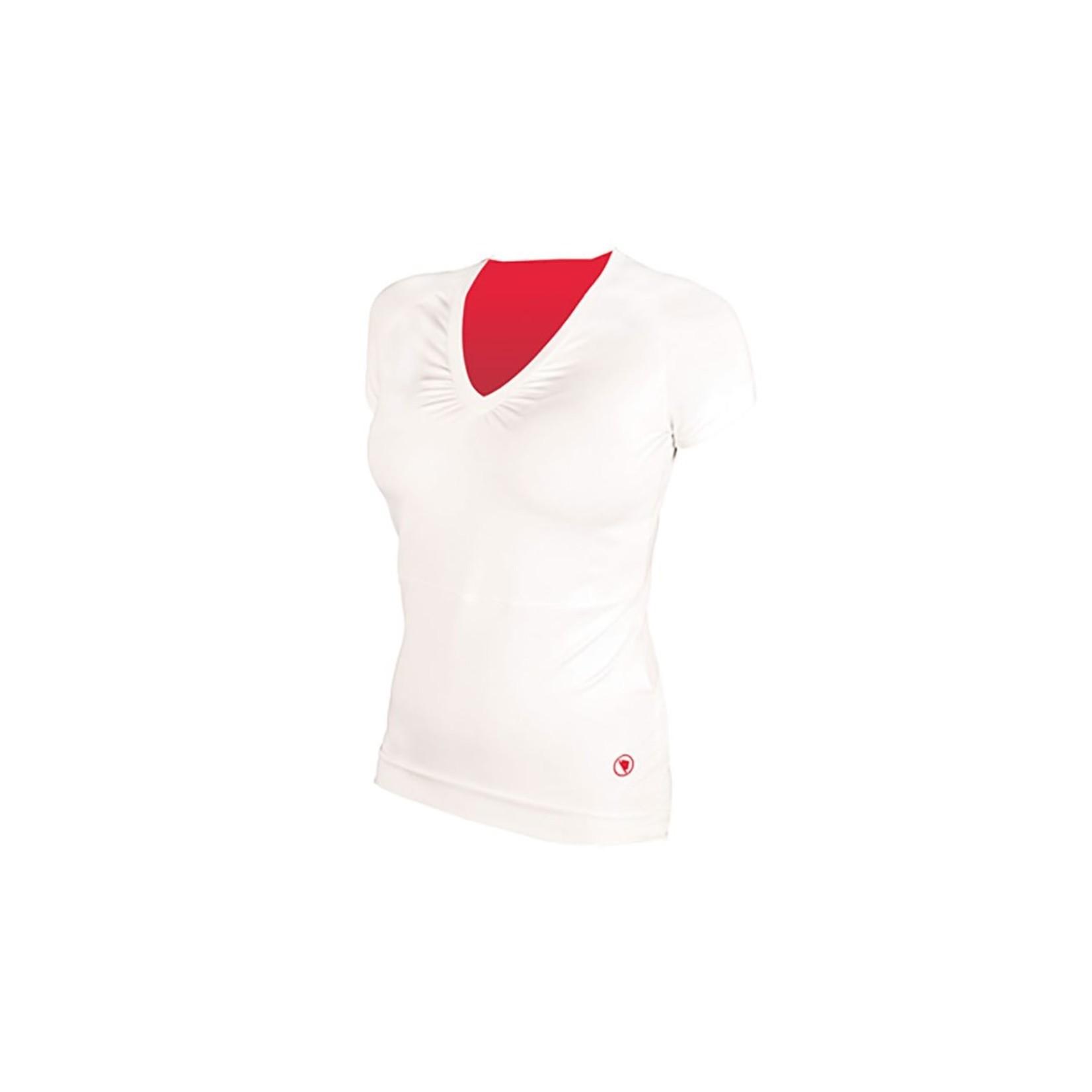 Endura Women's V Sport T-Shirt White Medium