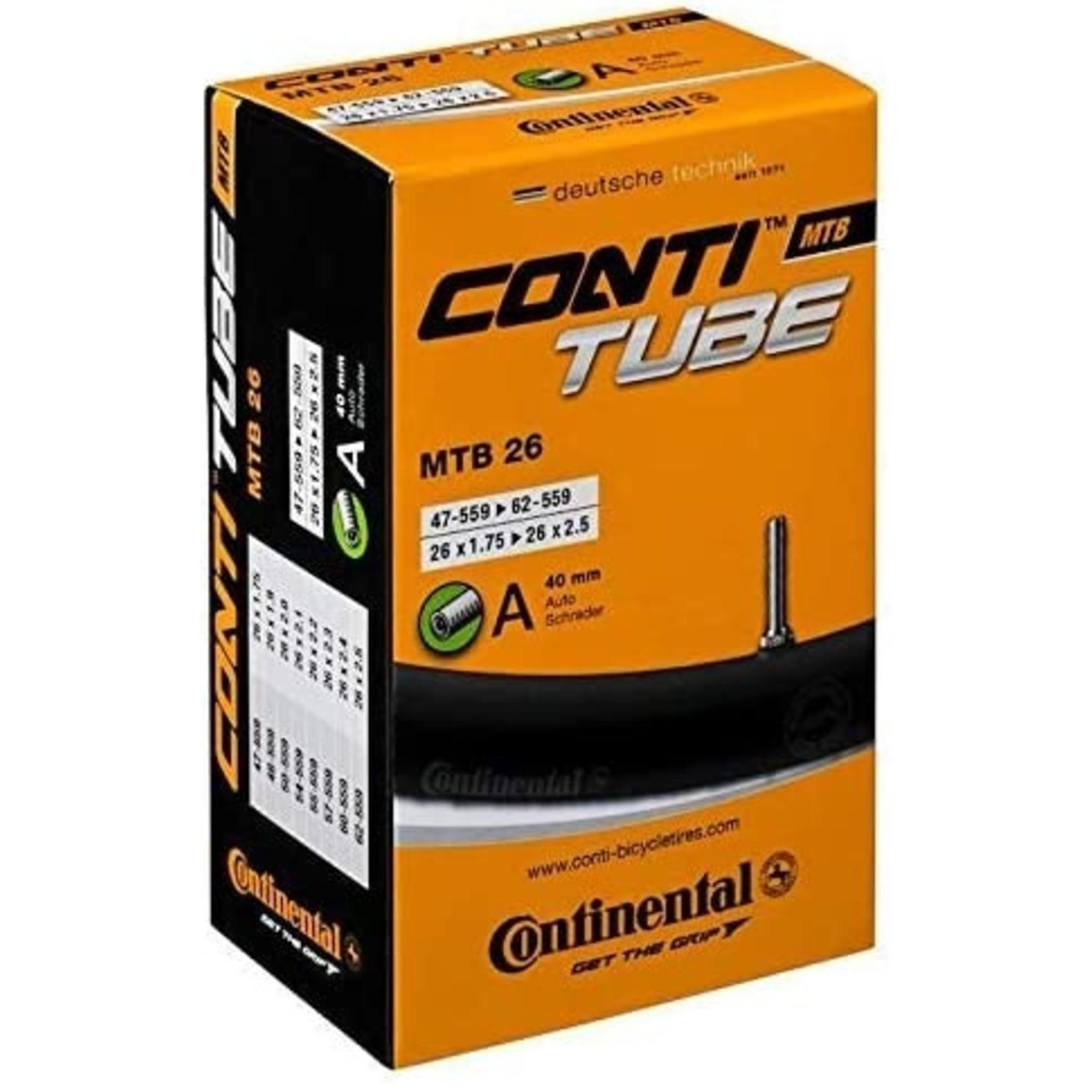 Continental MTB 26 Inner Tube | Schrader Valve 40mm