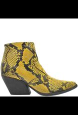 Elena Iachi ElenaIachi Yellow Snake Skin Side Zipper Western 2168