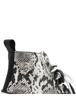 Now Now White/ Black Snake Print High Top Sneaker 5717