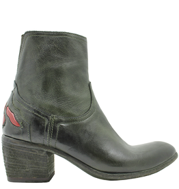 FauzianJeunesse FauzianJeunesse Green Side Zipper Boot With Back Detail 3618