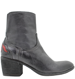 FauzianJeunesse FauzianJeunesse Grey Side Zipper Boot With Back Detail 3618