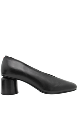 Halmanera Halmanera Black Calf Pump Round Low Heel 1950