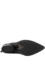 Halmanera Halmanera Black Back Zipper Boot With Studs Kaite