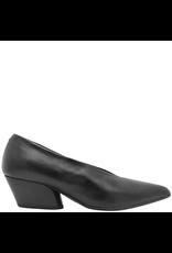 Halmanera Halmanera Black Calf Black Heel Point Toe Pump Luna
