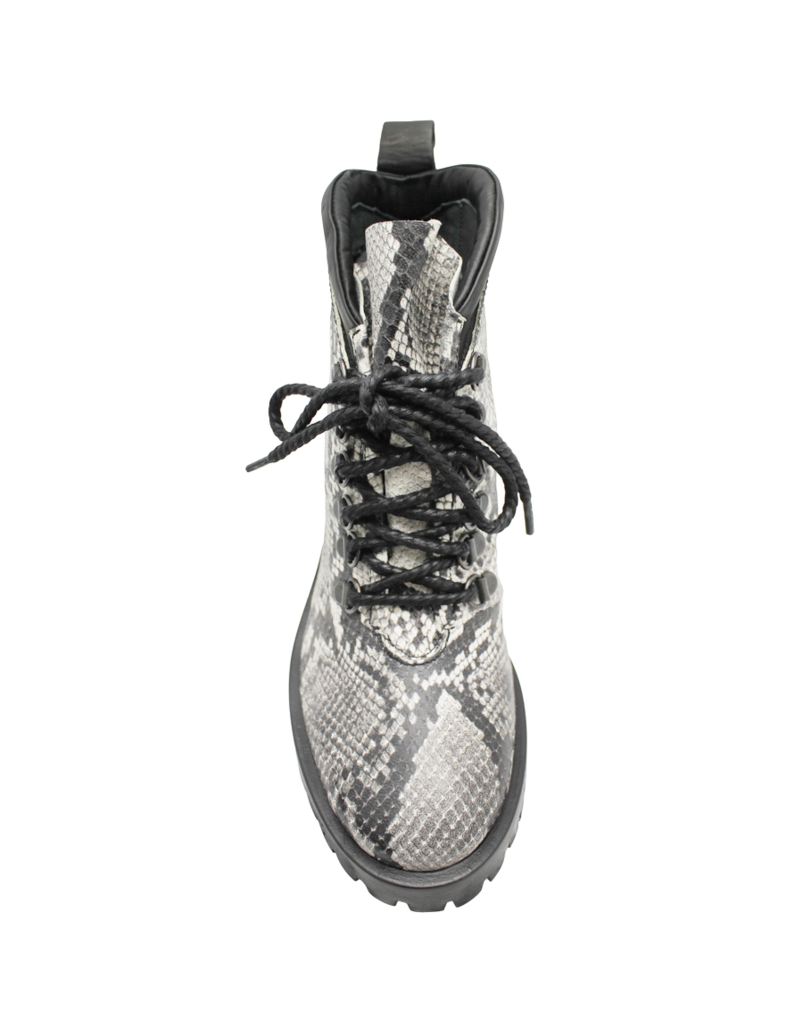 Now Now Snake Print Medium Heel Lace-Up Hiker Boot 5931