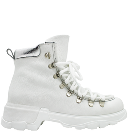 Now Now White Hiker Boot With Silver Detail 5957