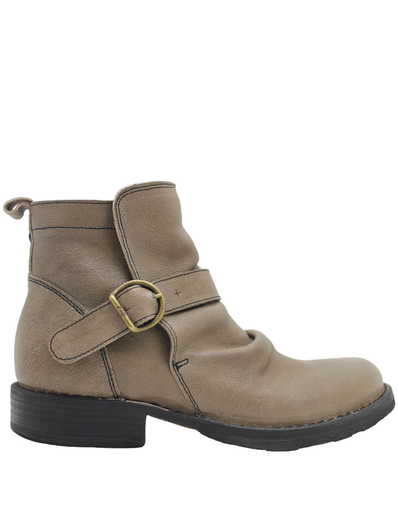 Fiorentini+Baker Fiorentini+Baker Taupe Buckled Side Zip Ankle Boot Evan