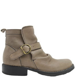 Fiorentini+Baker Fiorentini+Baker Taupe Buckled Side Zip Ankle Boot Evan