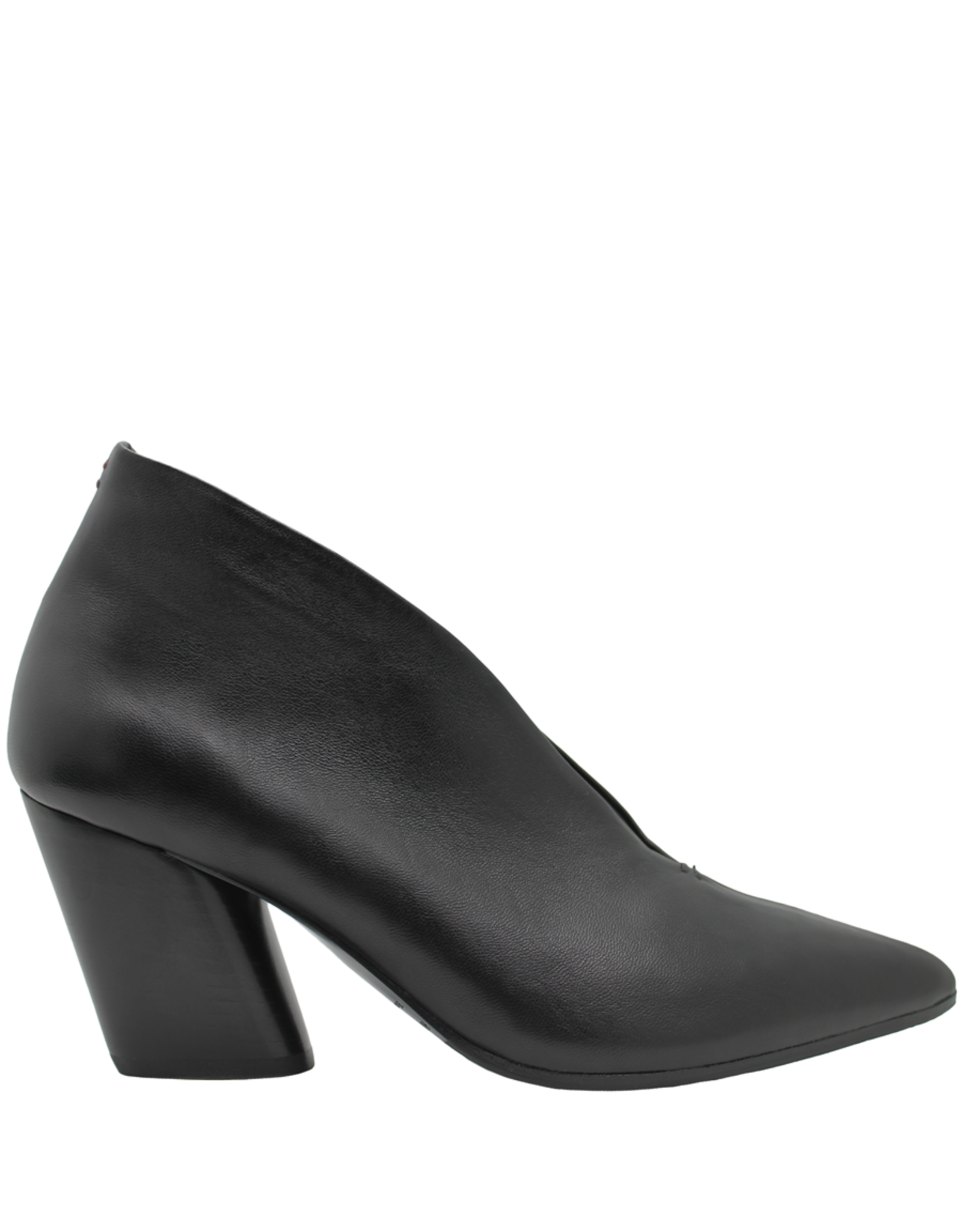 Halmanera Halmanera Black Medium Heel High Collar Pump 1990