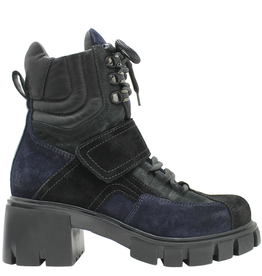Now Now Blue Black Multi Suede Hiking Boot 5667