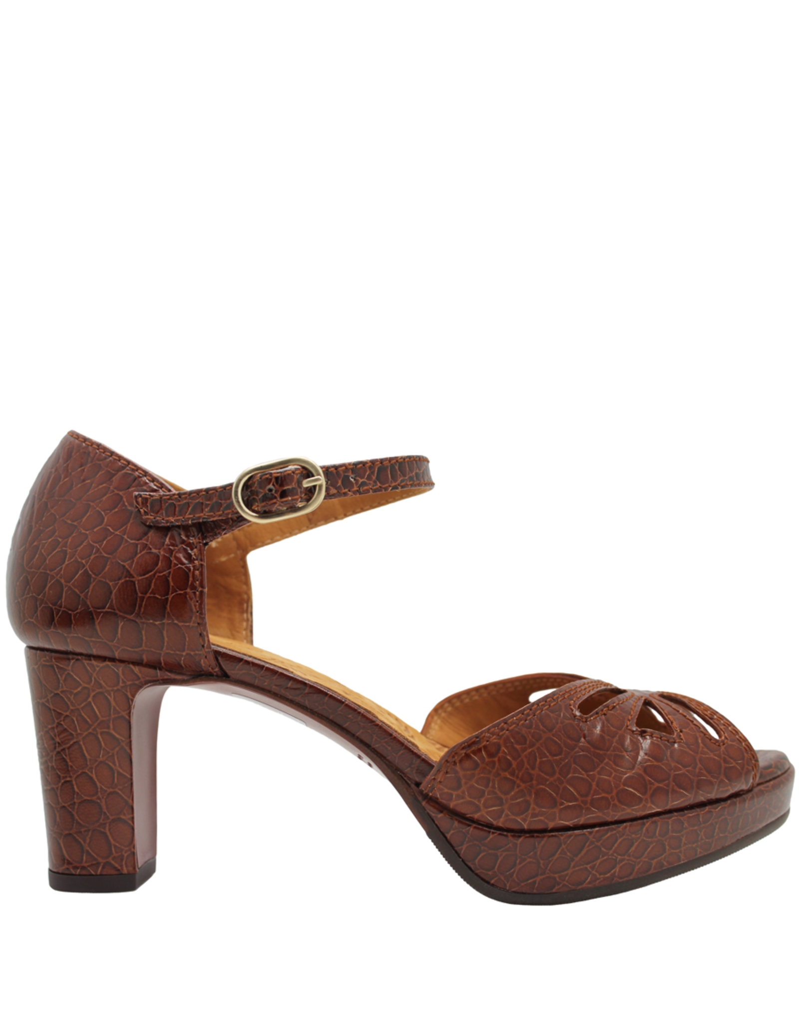 ChieMihara ChieMihara Brown Croco Buckled Platform Sandal Noshi