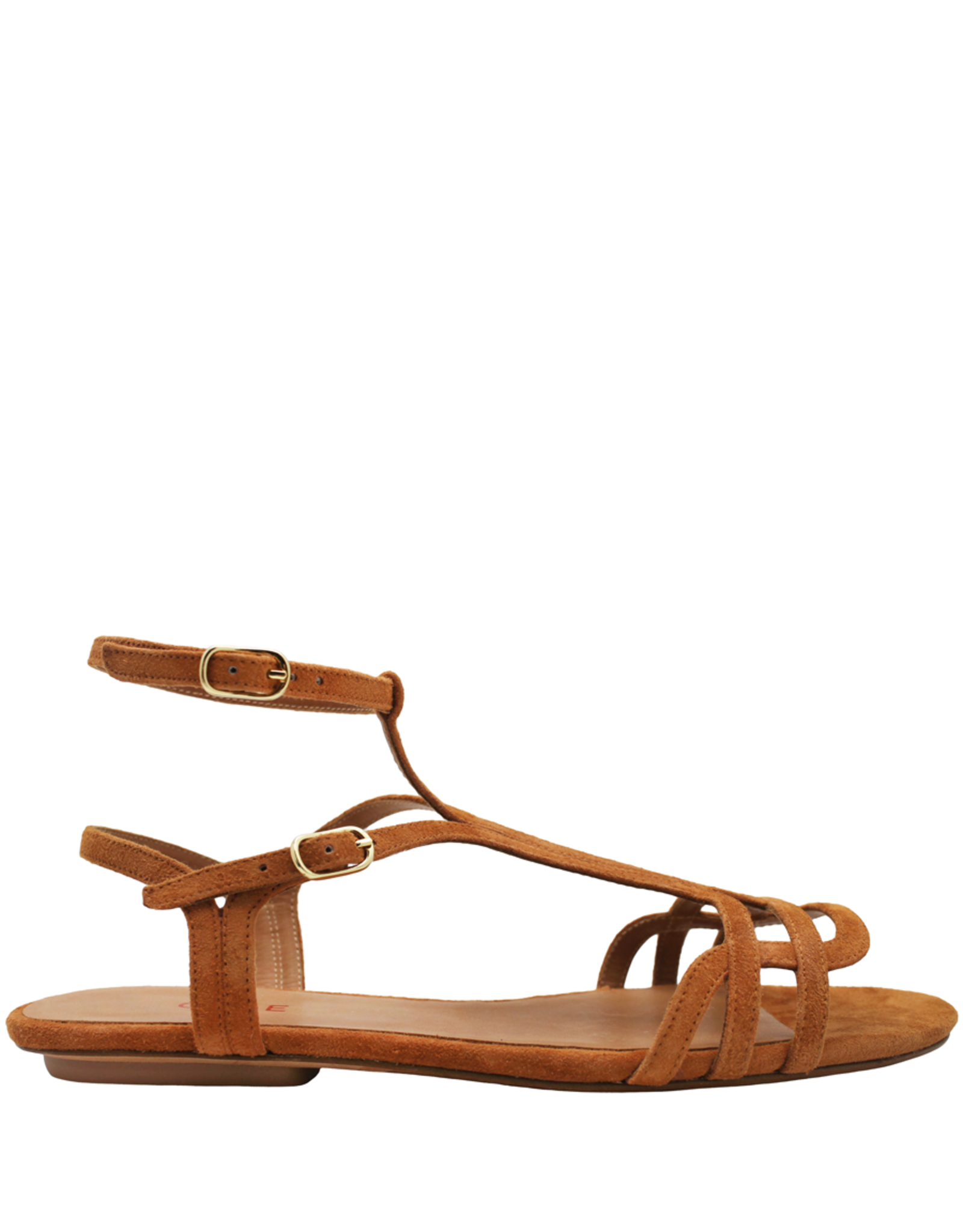 ChieMihara ChieMihara Curry Suede Double Buckle Art Deco Sandal Yael