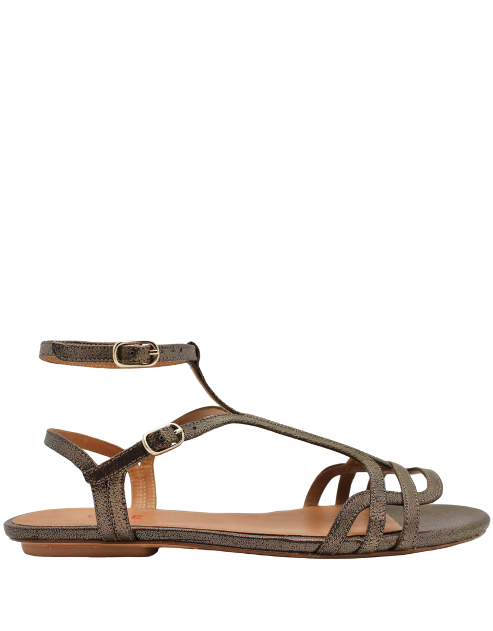 ChieMihara ChieMihara Metallic Double Buckle Art Deco Sandal Yael