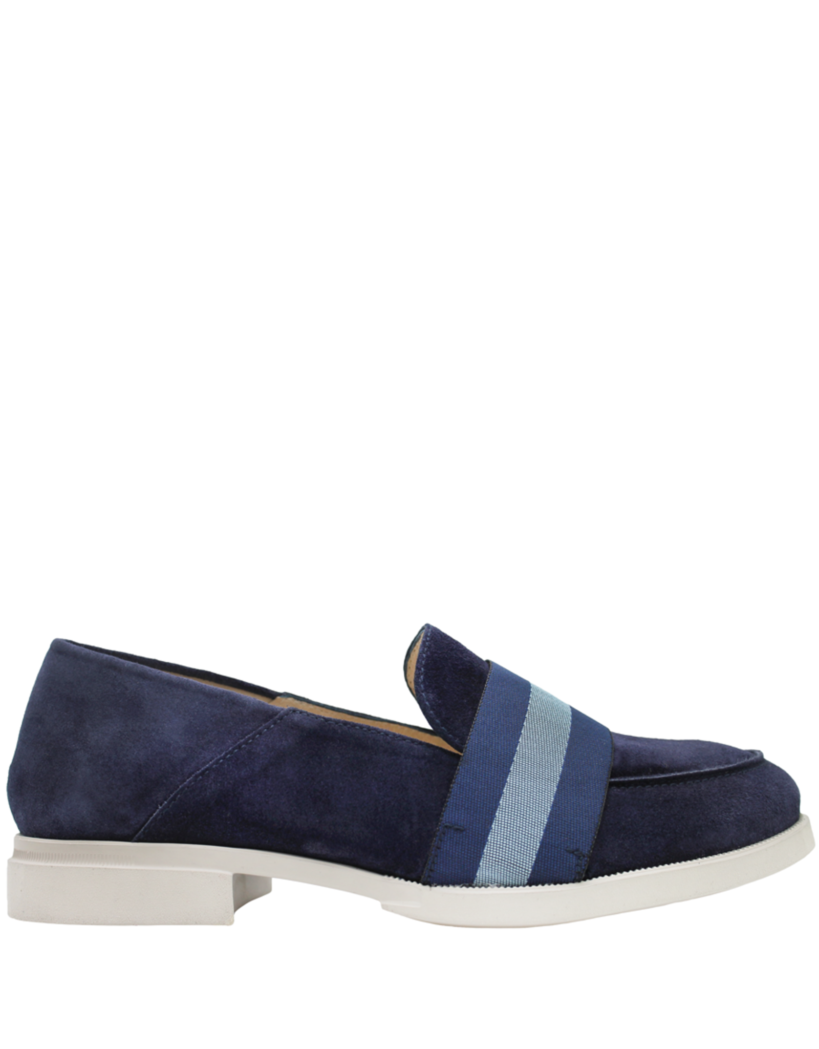 Gadea Gadea Blue Suede Loafer Blue Ribbon Detail 5134