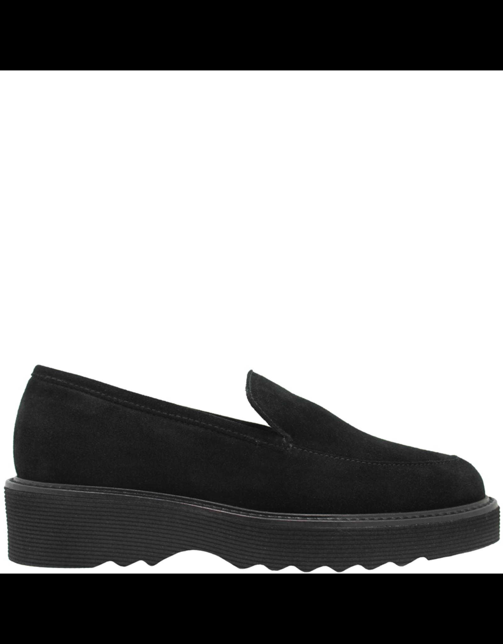 Aquatalia Black Suede Waterproof Loafer Kelsey