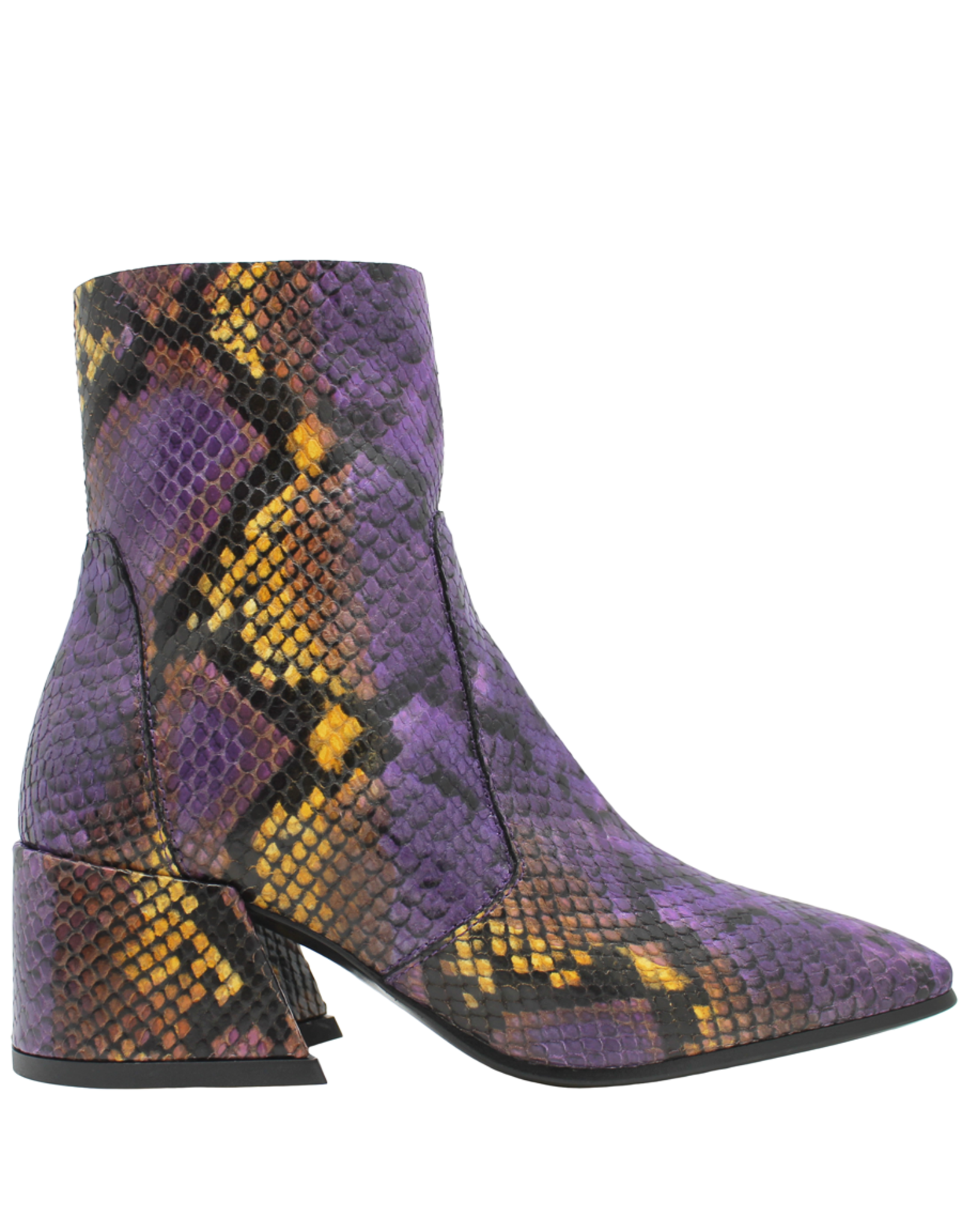 Elena Iachi ElenaIachi Purple Snake Mid-Calf Square Toe Boot 1945