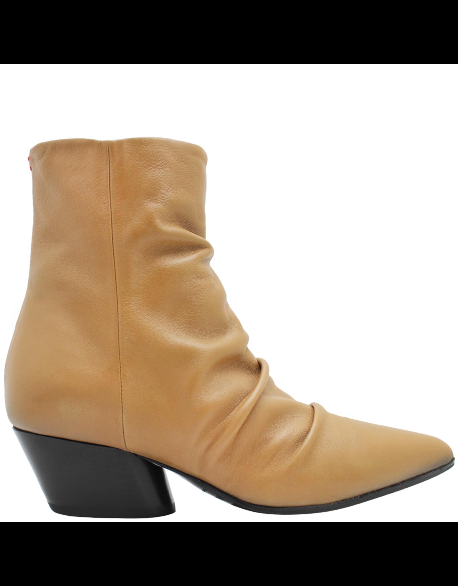 Halmanera Halmanera Camel Ruched Side Zipped Boot Mick