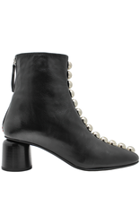Halmanera Halmanera Black With Row of Silver Detail Boot Manya
