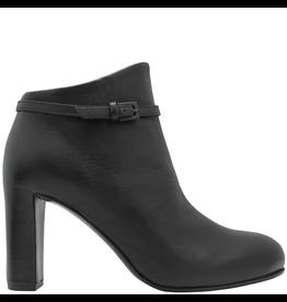 Del Carlo DelCarlo Black Buckled High Heel Ankle Boot 6290