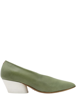 Halmanera Halmanera Mint Point Toe Pump White Heel Luna
