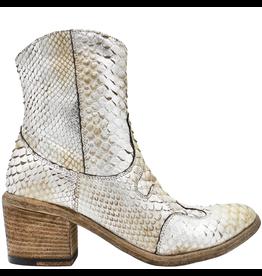 FauzianJeunesse Fauzian Jeunesse Silver Python Western Boot With Side Zip 3541