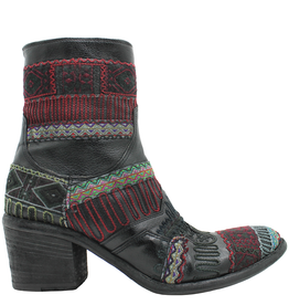 FauzianJeunesse FauzianJeunesse Black Tribal Embroidered Ankle Boot 3453