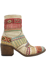FauzianJeunesse FauzianJeunesse Saddle Tribal Embroidered Ankle Boot 3453