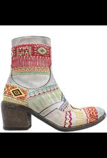 FauzianJeunesse FauzianJeunesse Grey Tribal Embroidered Ankle Boot 3453