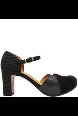 ChieMihara ChieMihara Black Nappa Galaxy Suede Buckled Dress Shoe Icaro