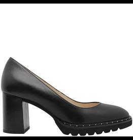 Gadea Gadea Black Calf Medium Heel Studs Pump 5158